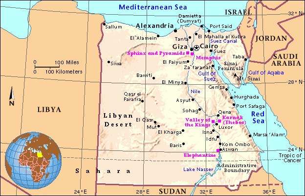 Projectafricaasia Licensed For Noncommercial Use Only Egypt - Map of egypt with major cities